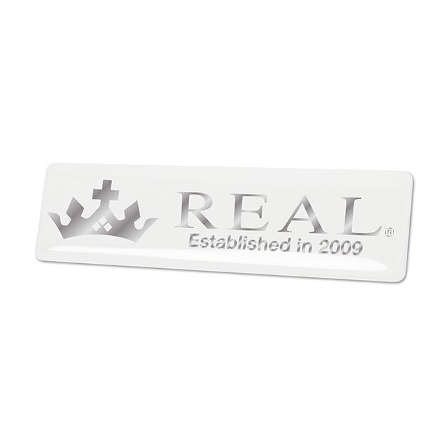 REALエンブレム [ヨコ型/ホワイト]