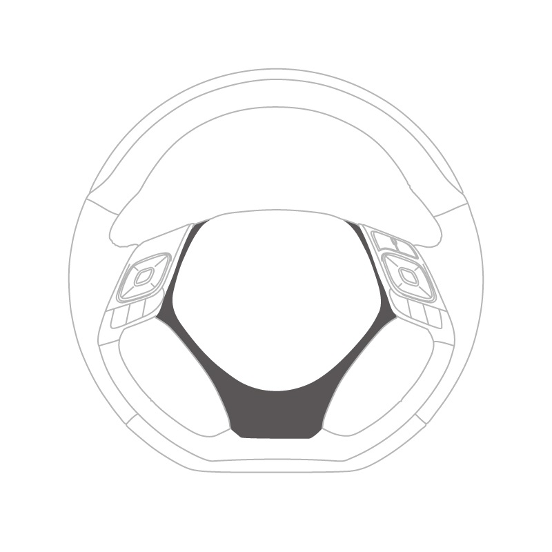 C-HR用ステアリングアンダーパッド [ピアノブラック]