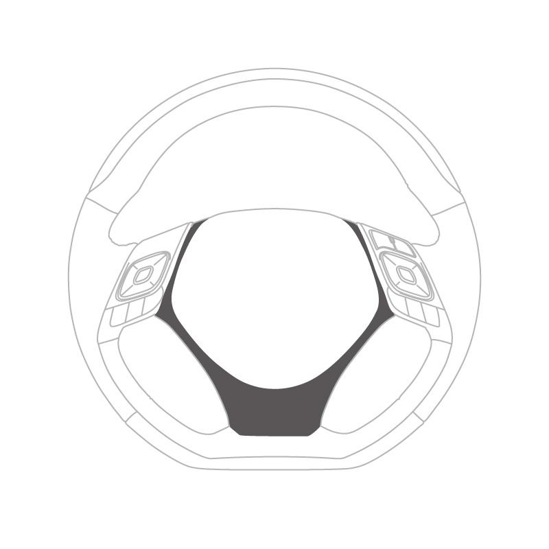 C-HR用ステアリングアンダーパッド [パールレッド]